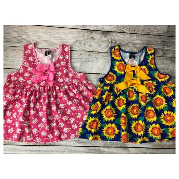 Pogo Club of NY Other - Pogo Club NY 12 Months Sun Dress Bows Sunflower